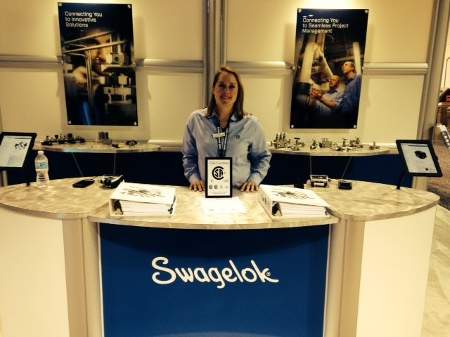 Swagelok Associate at Trade Show